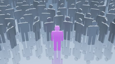 Social network, 3d animation
