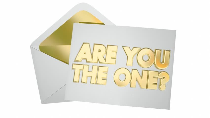 Recognition appreciation note letter message 3d animation stock are you the one question envelope message picked selected 3d animation hd stock footage clip altavistaventures Choice Image
