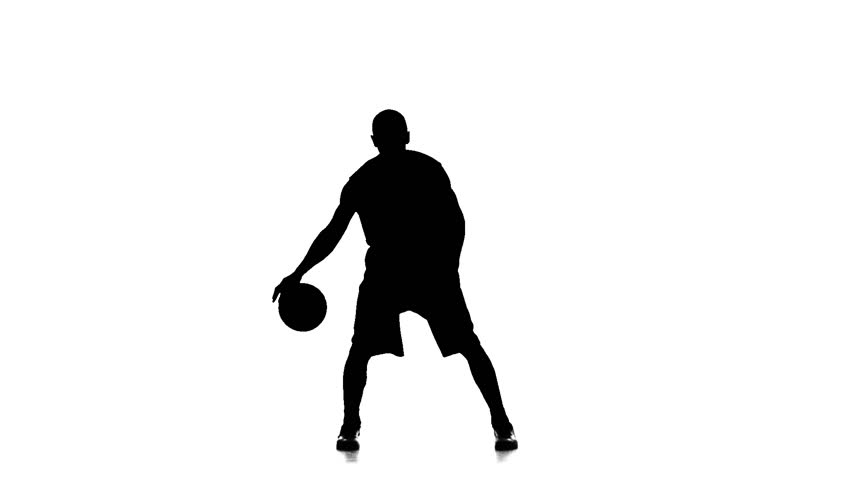 basketball player fills the ball slow motion silhouette white background stock footage video 22127920 shutterstock