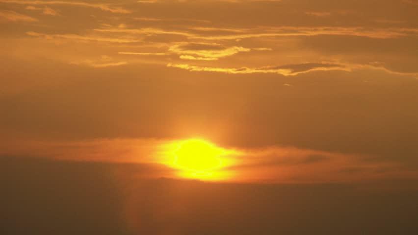 Timelapse Of Vibrant Sunset