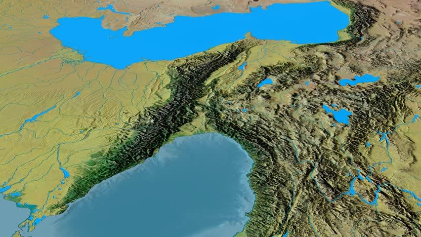Revolution Around Caucasus Mountain Range Stock Footage Video ...