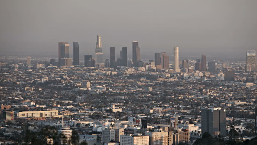 Sunset Timelapse of Downtown Los Angeles skyline
