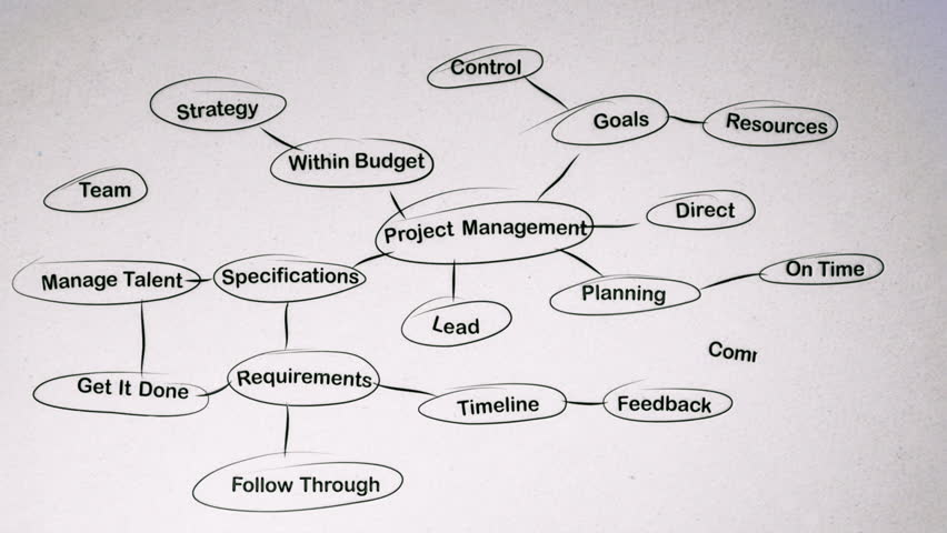 Project Management Brainstorming Mind Map