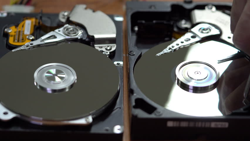 Man destroys the information from the hard drive   Shutterstock HD Video #22244113