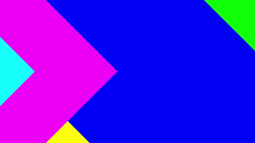 Material design animated background. Animated wallpaper of material design shapes and colors. Color channel included. Abstract 3d rendered geometric background. Great for luma keying
