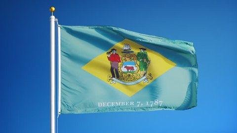 Delaware (u s  State) Flag Waving Stock Footage Video (100% Royalty