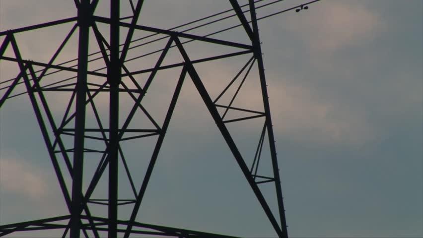 Pylon electricity turbine in evening   Shutterstock HD Video #22347460