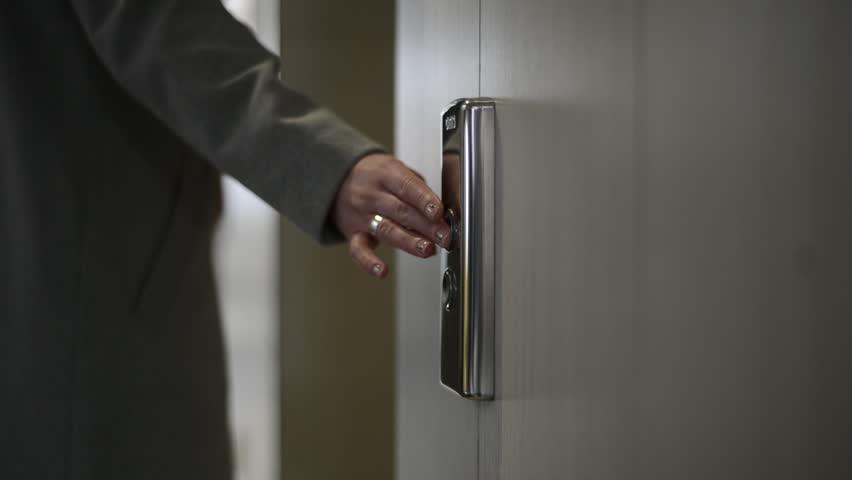 Press the elevator button