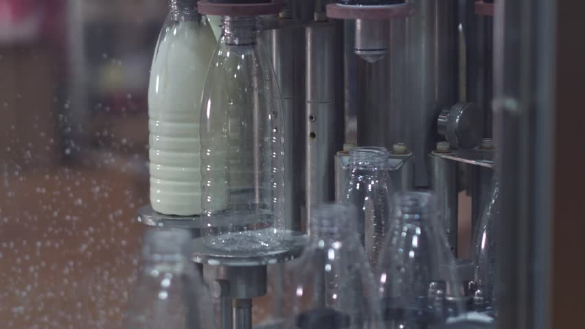 automated line for the production of milk in plastic bottles