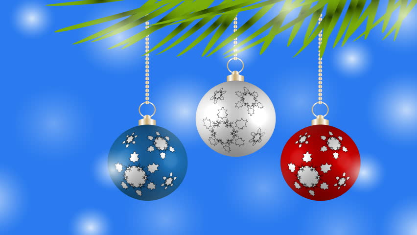 Christmas Background With Colorful Balls Stock Footage Video 100