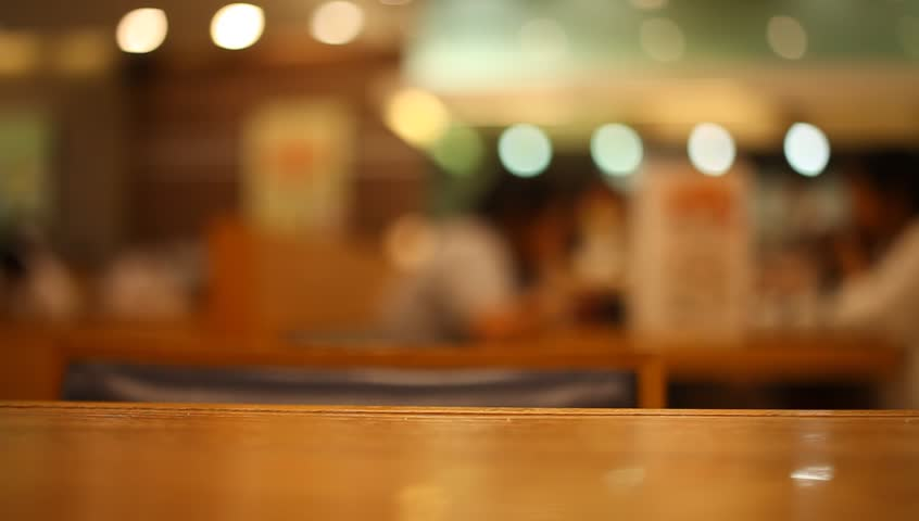 Table at Japanese Restaurant Blurred Stock Footage Video