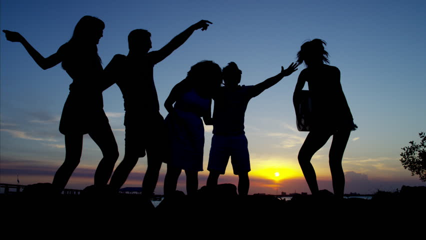 Looping Silhouette Of A Family Waving Stock Footage Video 5009060  Shutterstock-4865