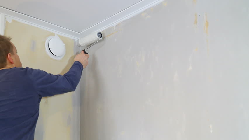 Amazing Applaying Wallpaper Glue Using A Roller. Stock Footage Video 2244640    Shutterstock