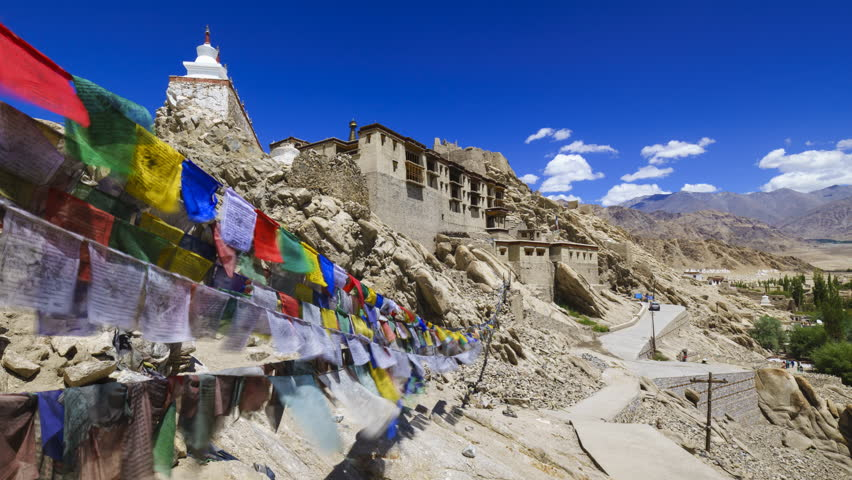4K Timelapse of Shey Palace, Leh, Ladakh, Jammu and Kashmir, India | Shutterstock HD Video #22488340