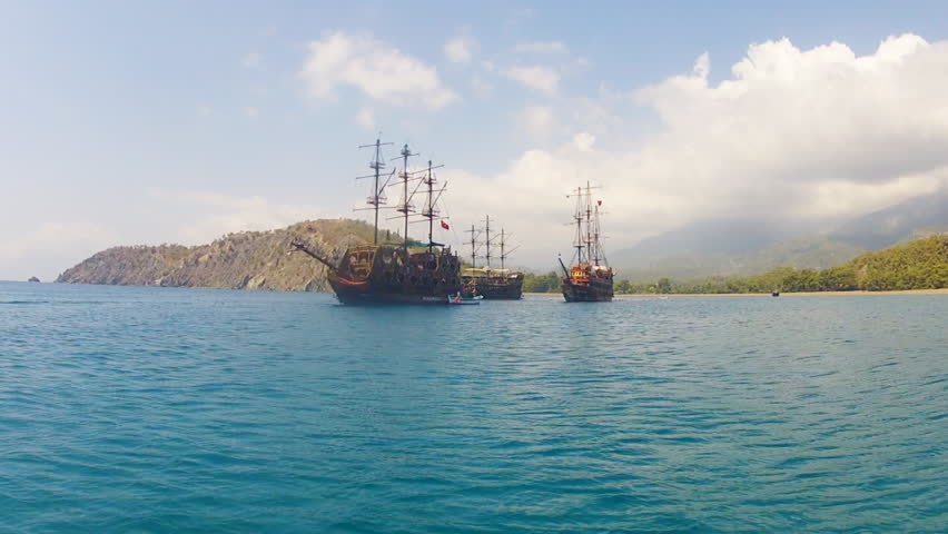 Beautiful Pirate Schooner in the Stock Footage Video (100% Royalty-free)  22488940 | Shutterstock