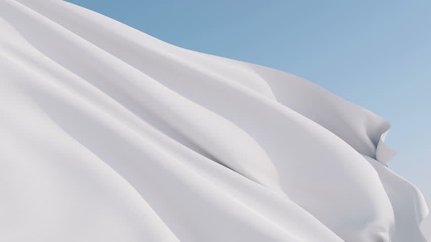 Photorealistic animation of the white blank flag waving on the wind. Seamless Loop. 4K, Ultra HD resolution. Available in various colors - check my profile.