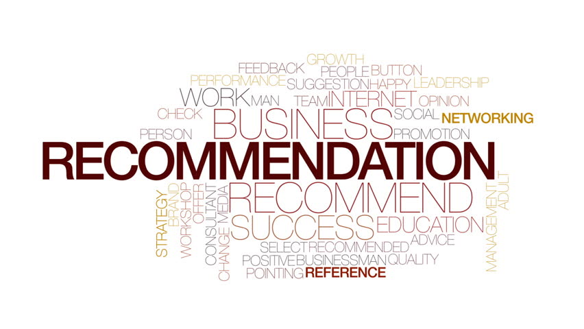 recommendation animated word cloud kinetic typography の動画素材