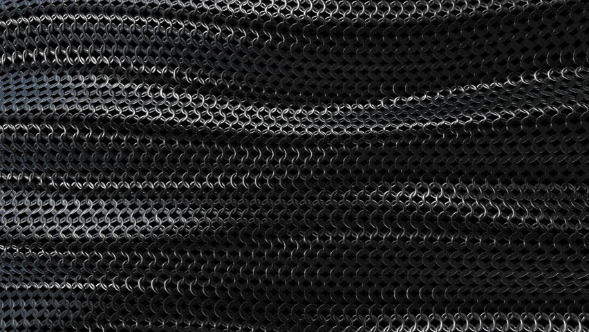 Dark metallic chain armorabstract wave curve background seamless loop. 3D animation | Shutterstock HD Video #22544110