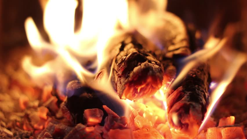 Detailed Fire Background, A Looping Clip Of A Fireplace With ...