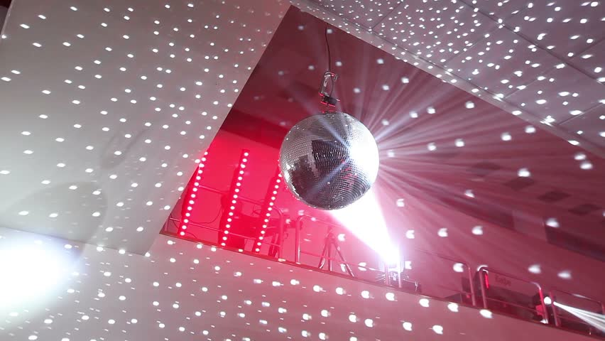 Disco ball spinning on the ceiling stage equipment red ceiling disco ball spinning on the ceiling stage equipment red ceiling mirror ball view from below stock footage video 22568230 shutterstock aloadofball Image collections