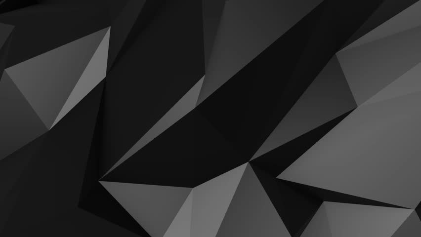 Abstract low poly dark polygonal geometric wireframe digital animation seamless loop-able motion graphics background 2k with alpha