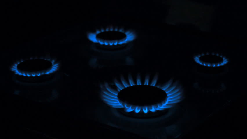 Gas stove in the dark | Shutterstock HD Video #2262500