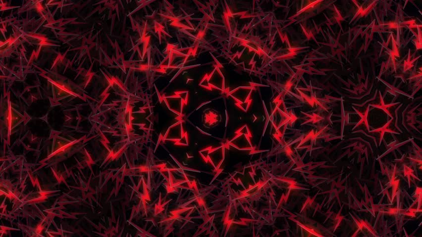 4k Disco Hypnotic Light Centerd Vj Loop Disco Effect: Abstract Cave Tunnel In Red With Light At The End Stock