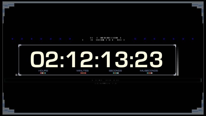 Digital Numbers Futuristic Background. HUD time code background frame | Shutterstock HD Video #22677460