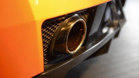 Luxury car exhaust engine start