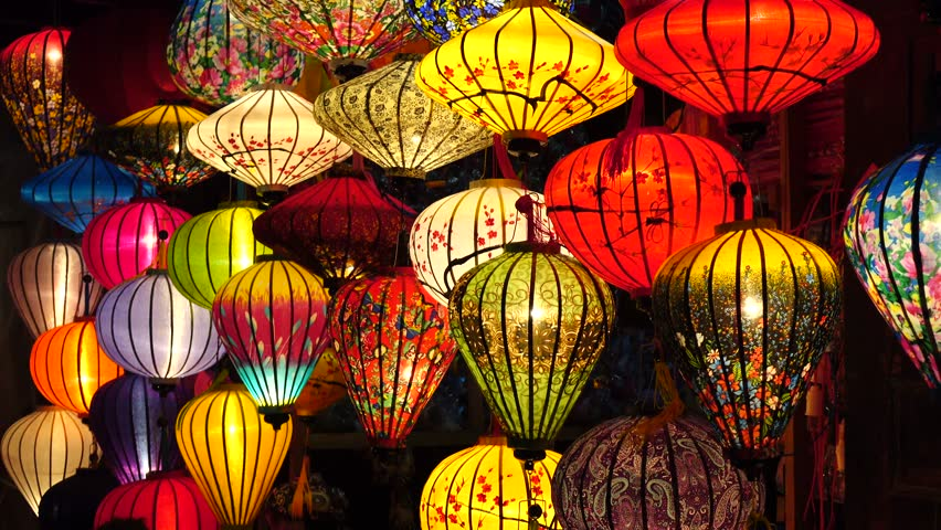 HOI AN, VIETNAM - JAN 09, 2016: Handcrafted lanterns in ancient town Hoi An, Vietnam.
