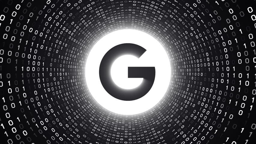 editorial animation white google logo の動画素材 完全ロイヤリティ