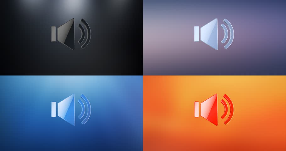 Animated Audio Volume 3d Icon Loop Modules for edit with alpha matte | Shutterstock HD Video #22832320