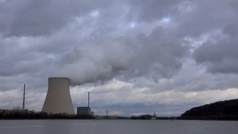 4K time-lapse footage of the Isar 2 nuclear power plant in Essenbach, Germany. Germany's 17 nuclear power stations will be shut down by 2022.