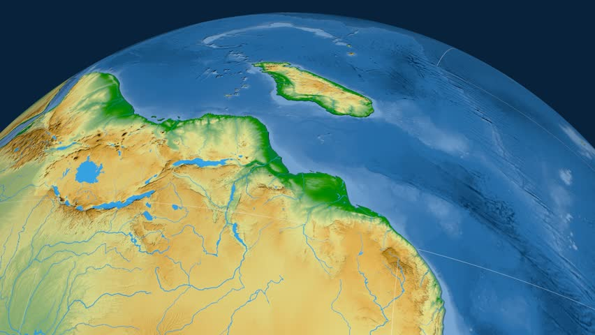 Somalia tectonic plate. Physical. Plate extruded and animated against the globe | Shutterstock HD Video #22896820
