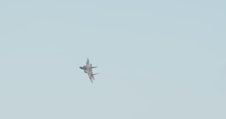 Israeli Air force F35 fighter Jet performing high speed combat maneuvers