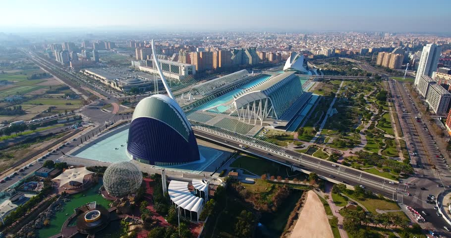 Aerial view city of Valencia (Spain)