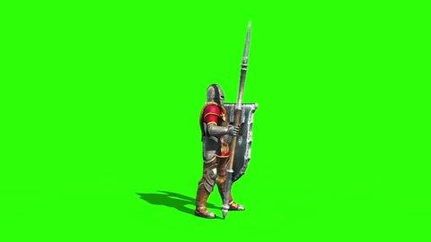 Centurion Roman Soldier Attack Side Lance Helmet Shield