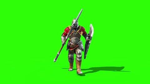 Centurion Roman Soldier Walk Front Lance Helmet Shield