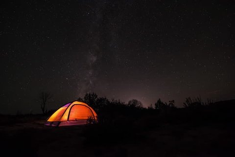 Camping under the Stars Milky Way Time-lapse Zion Utah