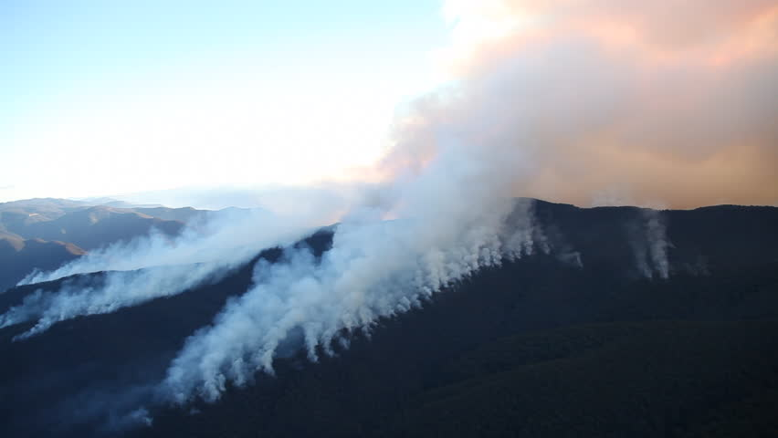 Bushfire Burning Aerial | Shutterstock HD Video #23108560