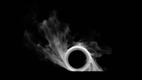 Burnout car wheel withw black background