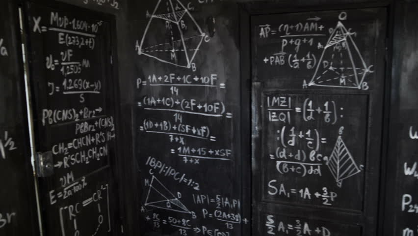 Chemical and mathematical equations wall room background paning