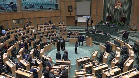 AMMAN, JORDAN - NOVEMBER 2016: View of the parliament building in Amman, Jordan