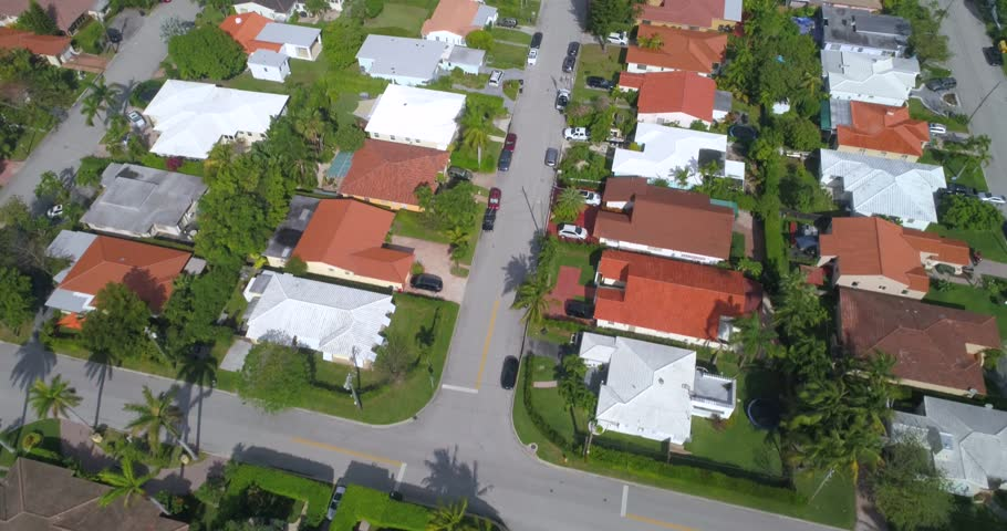 Residential homes aerial footage
