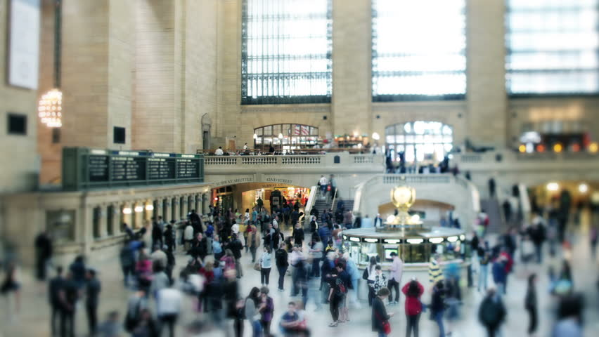NEW YORK - JANUARY 12: Crowds of commuters in Grand Central terminal, a major transit centre. 05 January 2012, New York, USA.