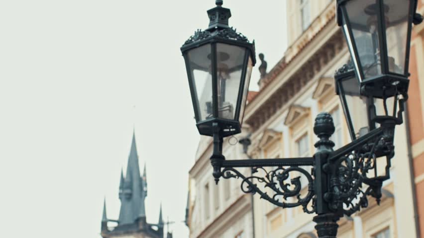 View on the buildings and street lantern on the old square in Prague | Shutterstock HD Video #23300020