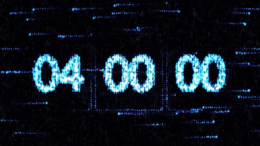 Clocks are set at 04:00 starting a new countdown. The countdown on the computer screen. Zero countdown | Shutterstock HD Video #23316316