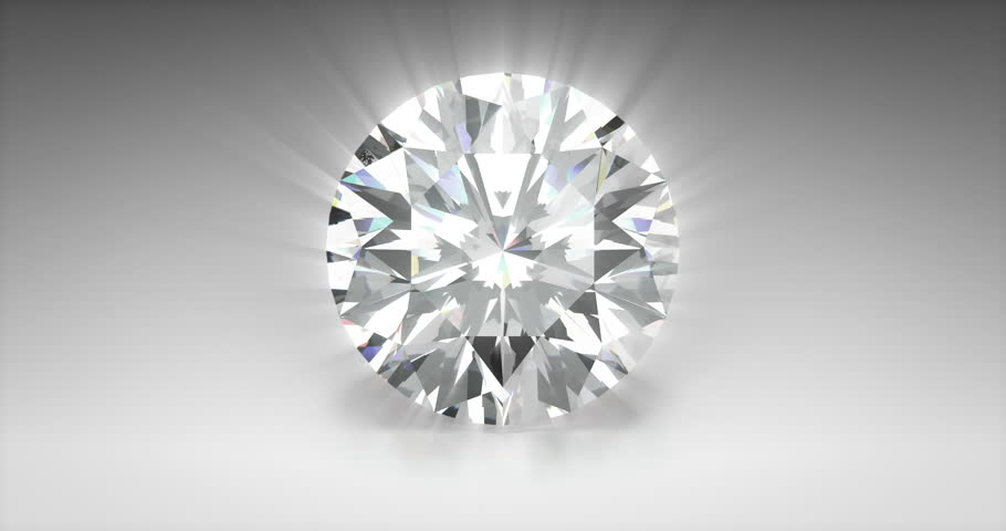 Round Cut Diamond 3D Rendering