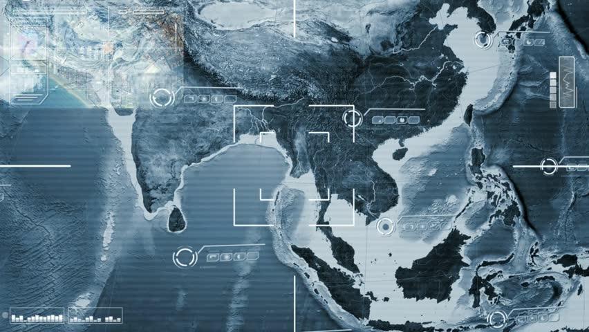 world map scanning