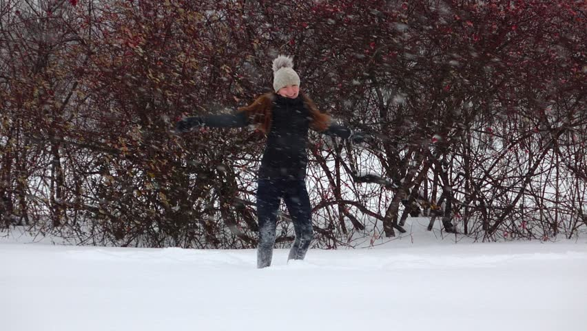 Snow, Rain and a Little Girl Flying